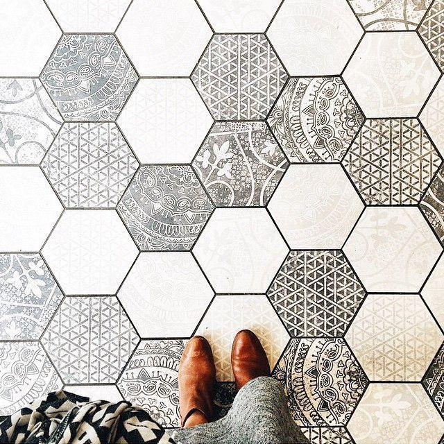 Iu0027ve Always Loved The Character Encaustic Cement Tile Brings To A Space.  It. Entryway Tile FloorHexagon Tile Bathroom ...