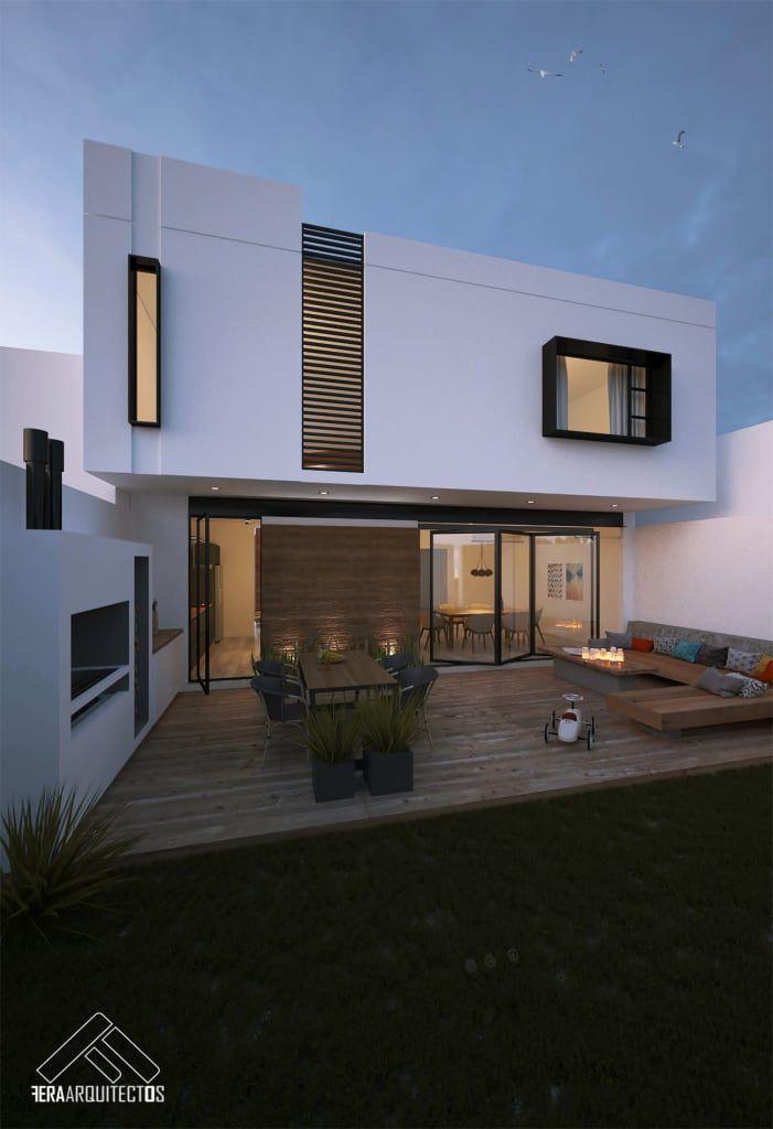 Terraza fachada posterior casas de estilo por for Foto casa minimalista