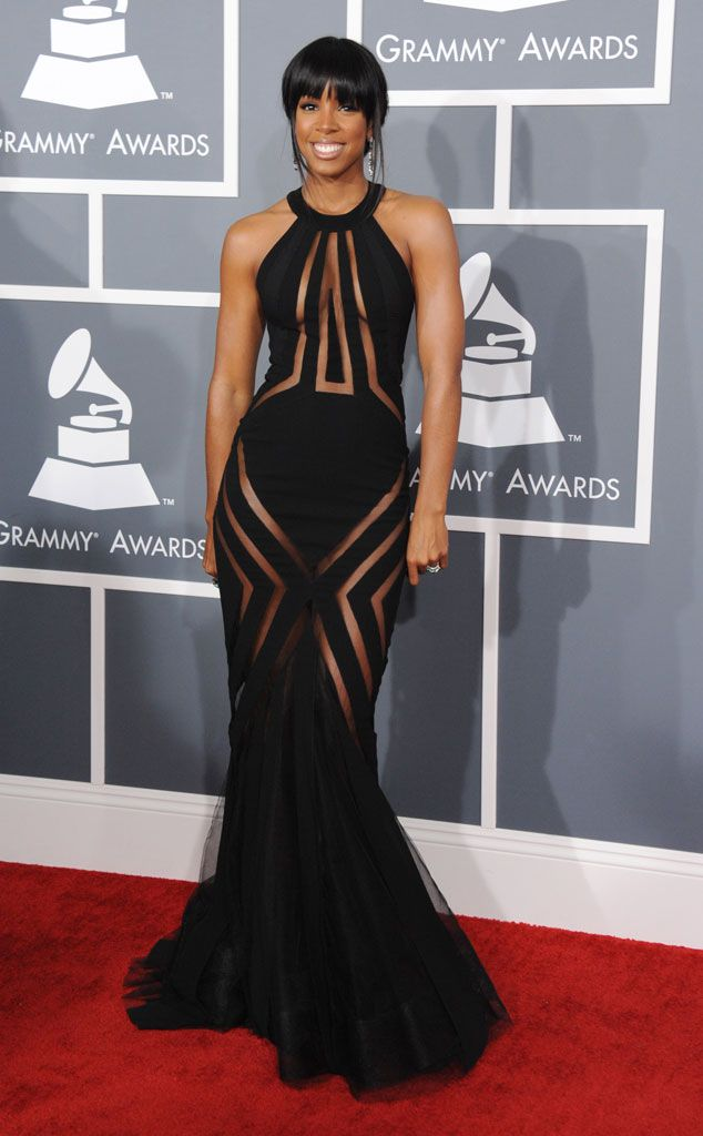 Kelly Rowland from Celebs Go Commando on the Red Carpet