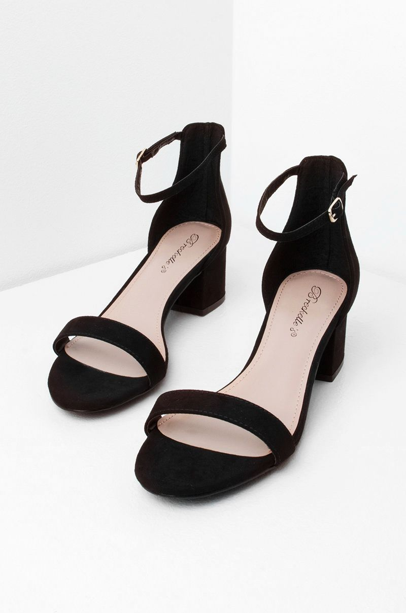 e84b028f8a58 Low Heeled Sandal in Black