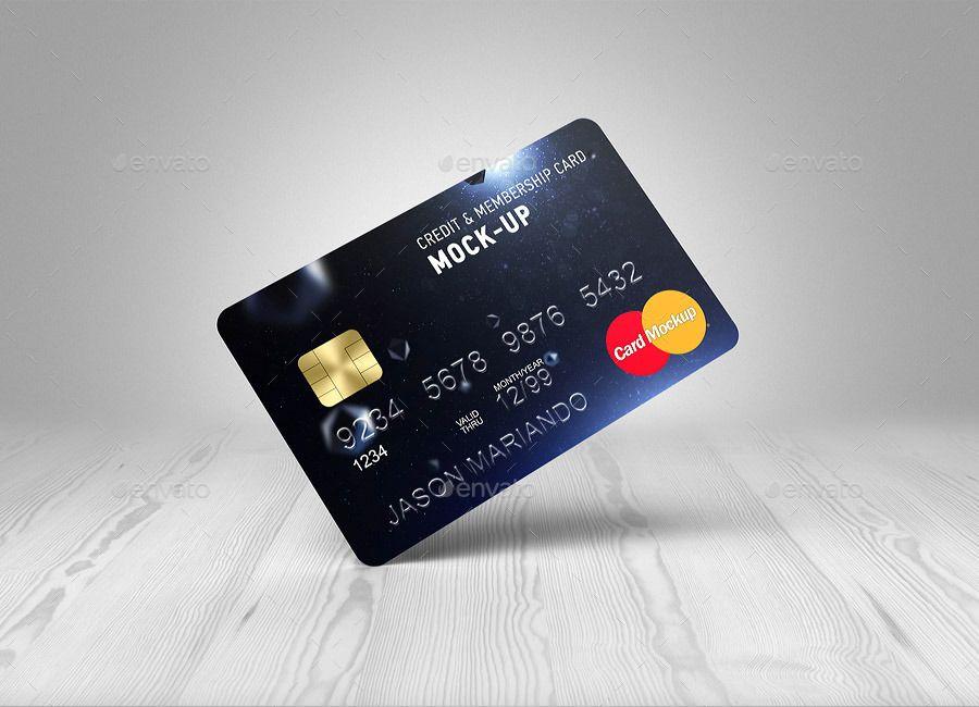 Credit bank card mockup by ayashi graphicriver