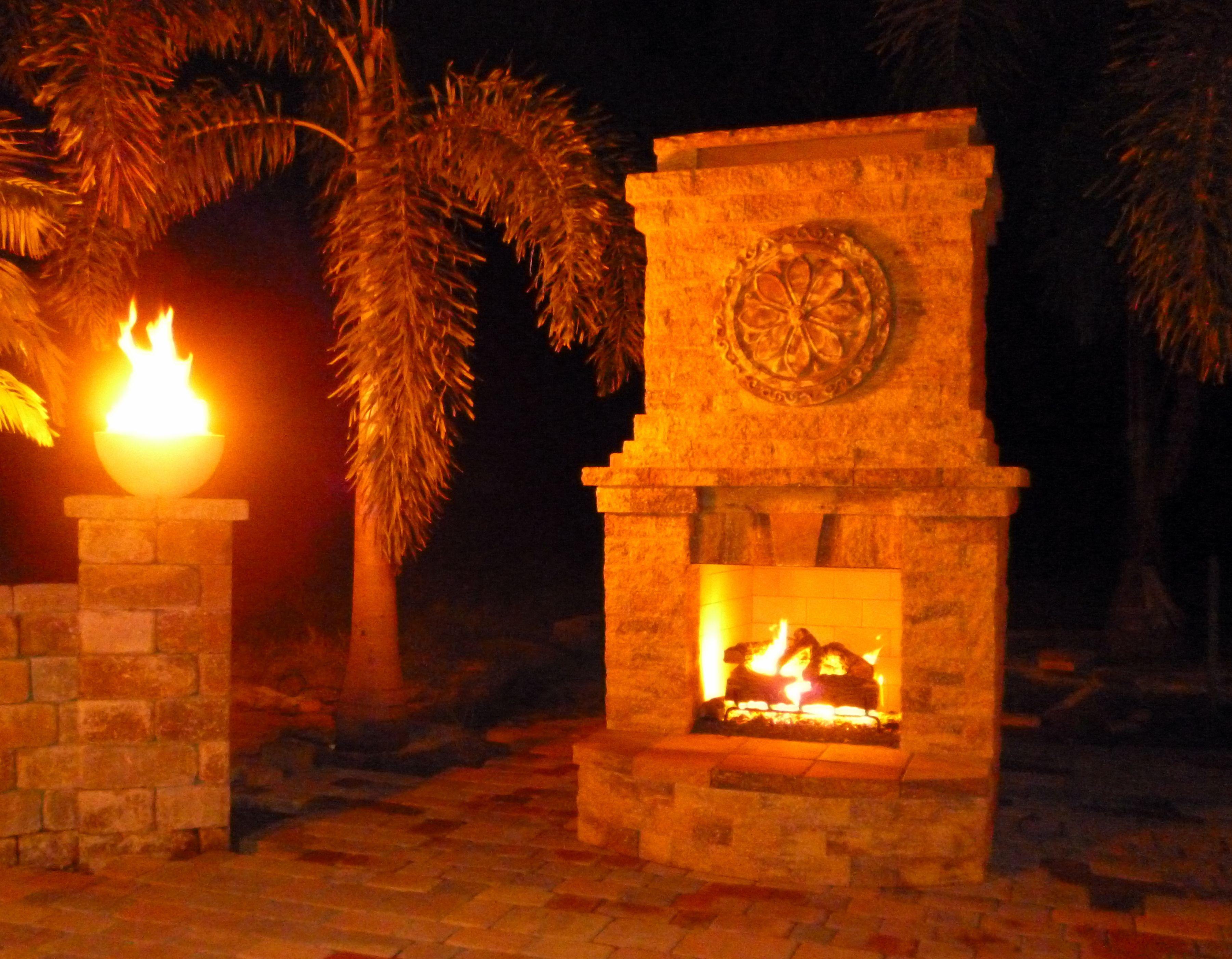 Gas Fireplace Night Shot Gas Fireplace Air Fire Fire Glass
