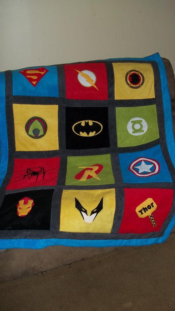 Custom Made Superhero Super Hero Comic Fleece by YoderbyDesign, $70.00