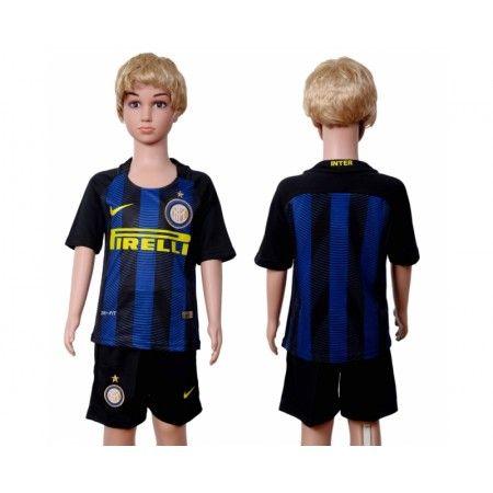 #Inter Milan Trøje Børn 16-17 Hjemmebanetrøje Kort ærmer,199,62KR,shirtshopservice@gmail.com