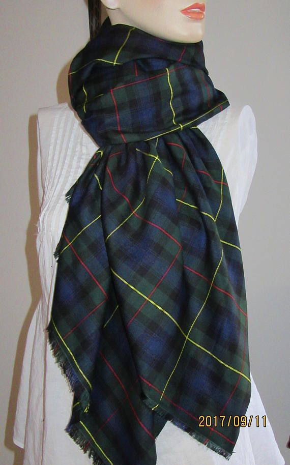Modern MacLeod of Harris Tartan Plaid Infinity Scarf Handmade Make ...