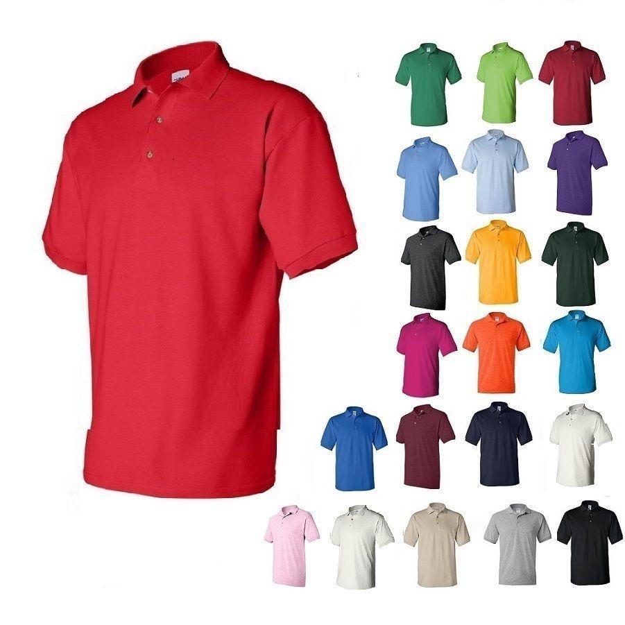Gildan DryBlend Mens Polo Sport Shirt Jersey T-Shirt 8800 NWOT Size S-5XL acea8c3480