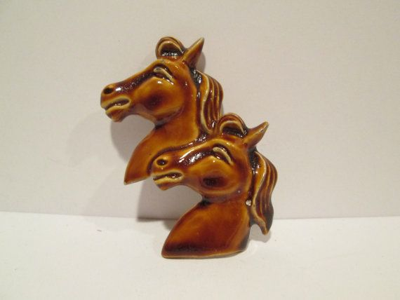 Hey, I found this really awesome Etsy listing at https://www.etsy.com/listing/201012459/ceramic-pin-horses-vintage