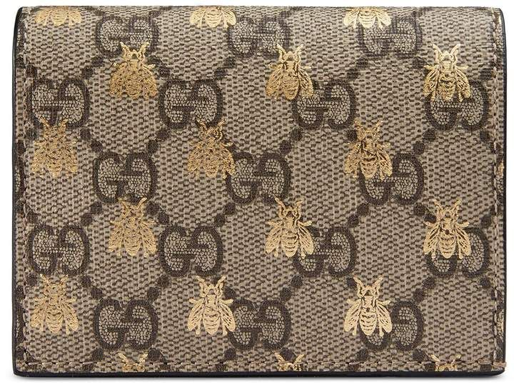 04124a5c4e6 GG Supreme bees card case  gucci  ShopStyle  MyShopStyle click link for  more information