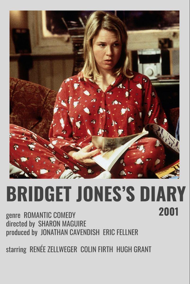 Bridget Jones S Diary 2001 In 2020 Bridget Jones Diary Movie Poster Wall Bridget Jones