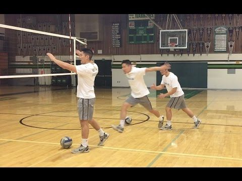 Right Side Spiking Footwork How To Spike A Volleyball Tutorial Volleyball Volleyball Drills All Volleyball