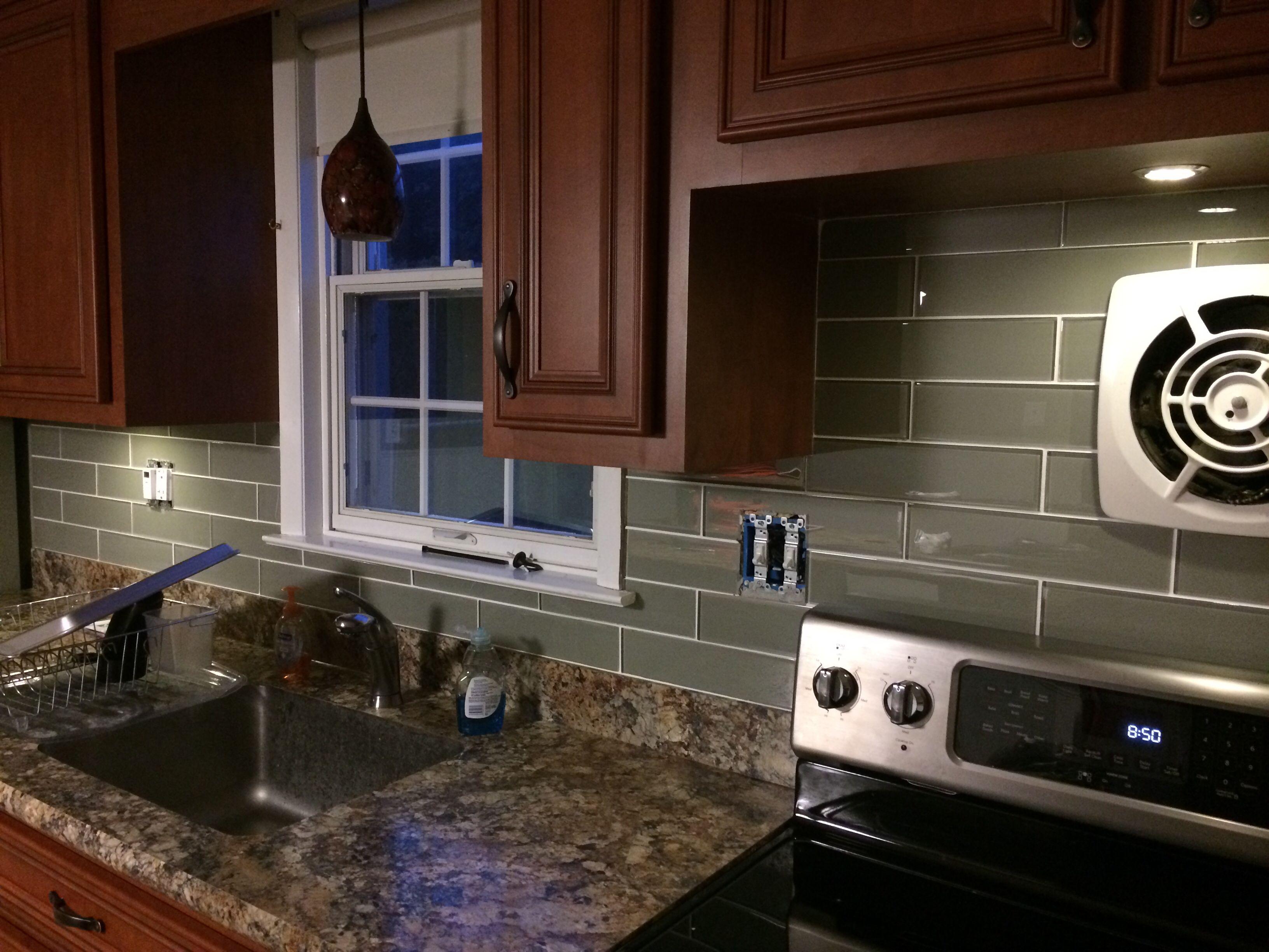 Grey Subway Tile Allen Roth Kitchen Remodel Kitchen Backsplash Kitchen Renovation
