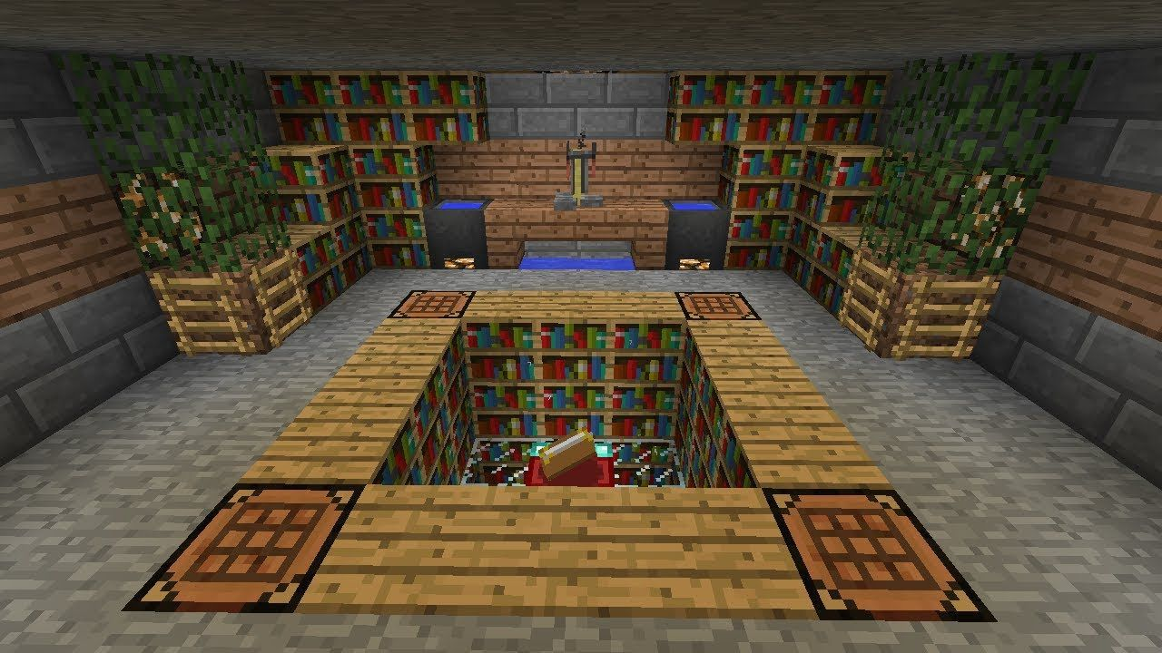 Library Minecraft Interior Design Minecraft Room Minecraft Farm