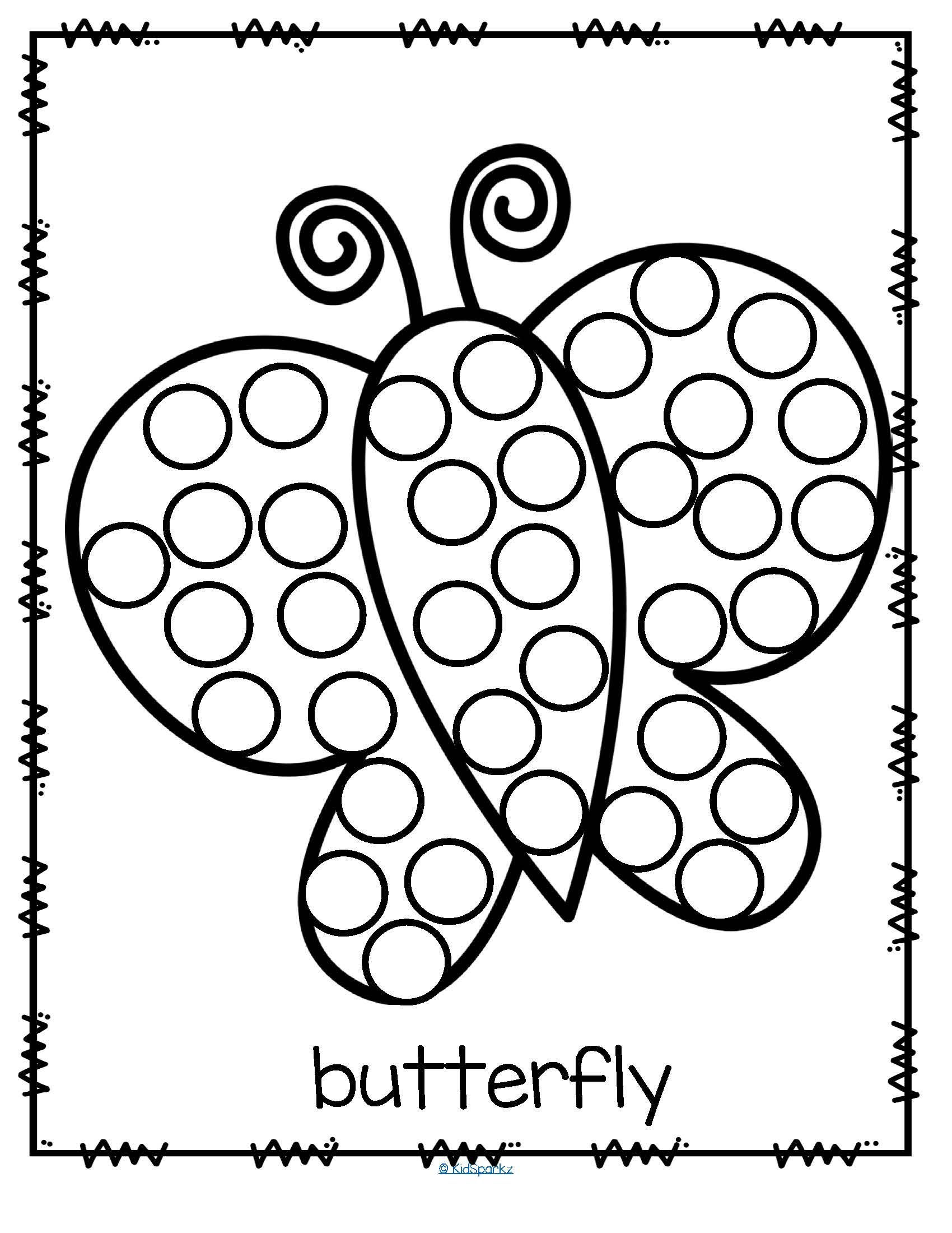 26 Free Printable Dot Marker Templates Of Butterfly Do A Dot Art Coloring Page 2ans Pinterest