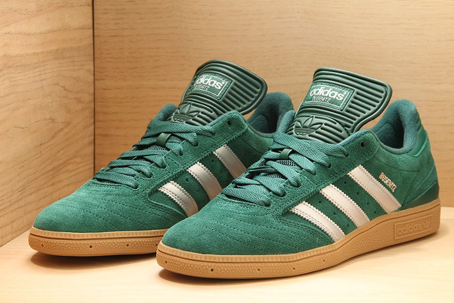 the latest ee564 4918b Adidas Busenitz Forest   Metallic Silver   Gum