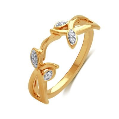jcpenney | Diamond-Accent 14K Yellow Gold Floral Ring Guard