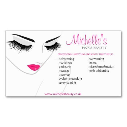 Hair beauty salon business card design at zazzle for Beauty business card templates