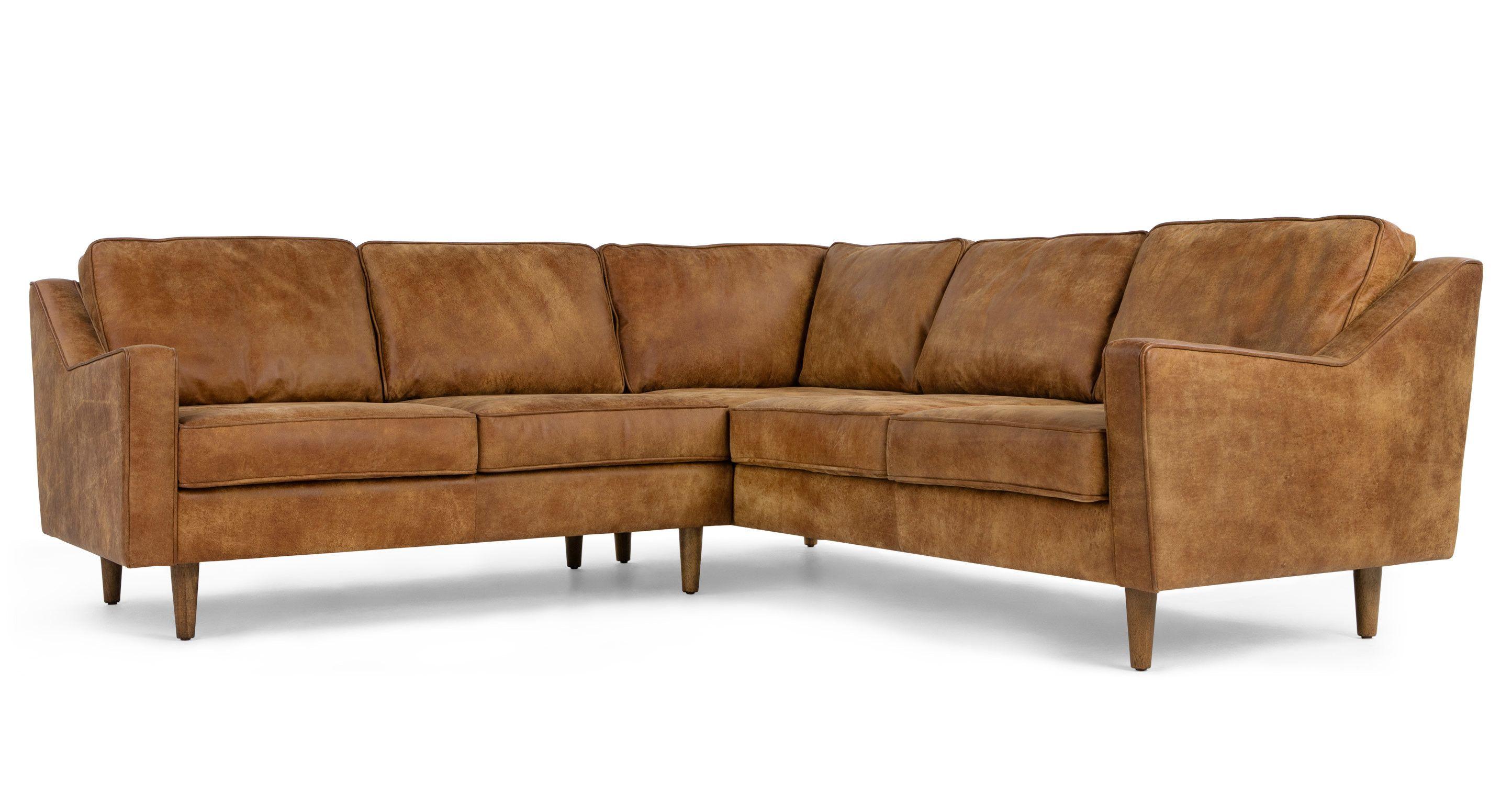 Dallas Corner Sofa Outback Tan Premium Leather Leather Corner Sofa Corner Sofa Sofas For Small Spaces