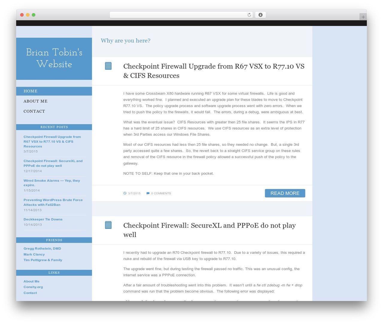 BonPress theme WordPress - briantobin net | WordPress Themes