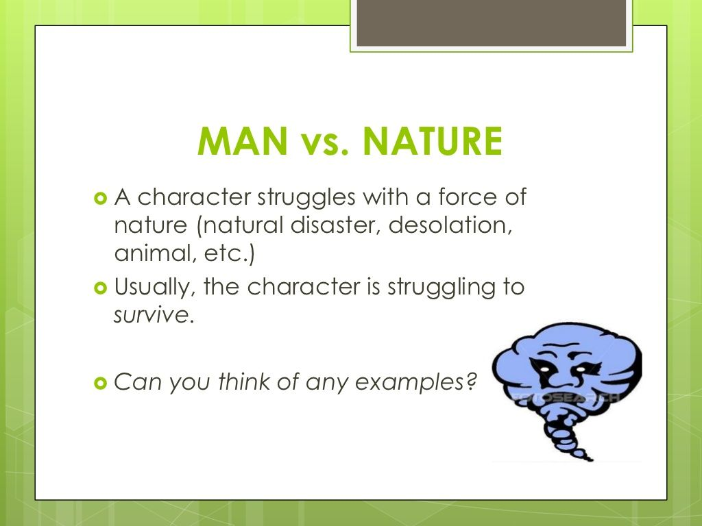 man vs nature conflict