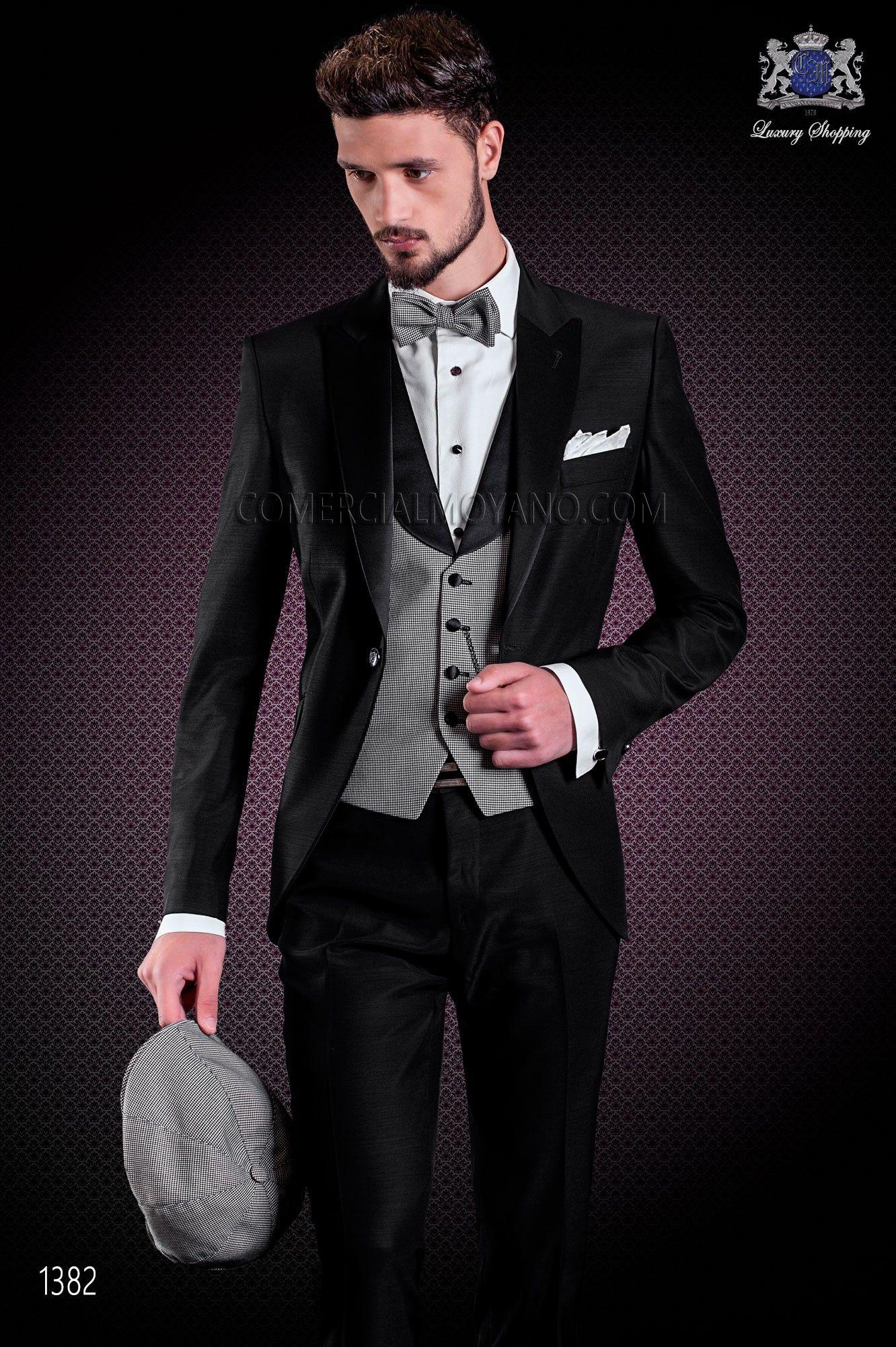 "Traje italiano con moderno estilo ""Slim"" de solapa punta y 1 botón ..."