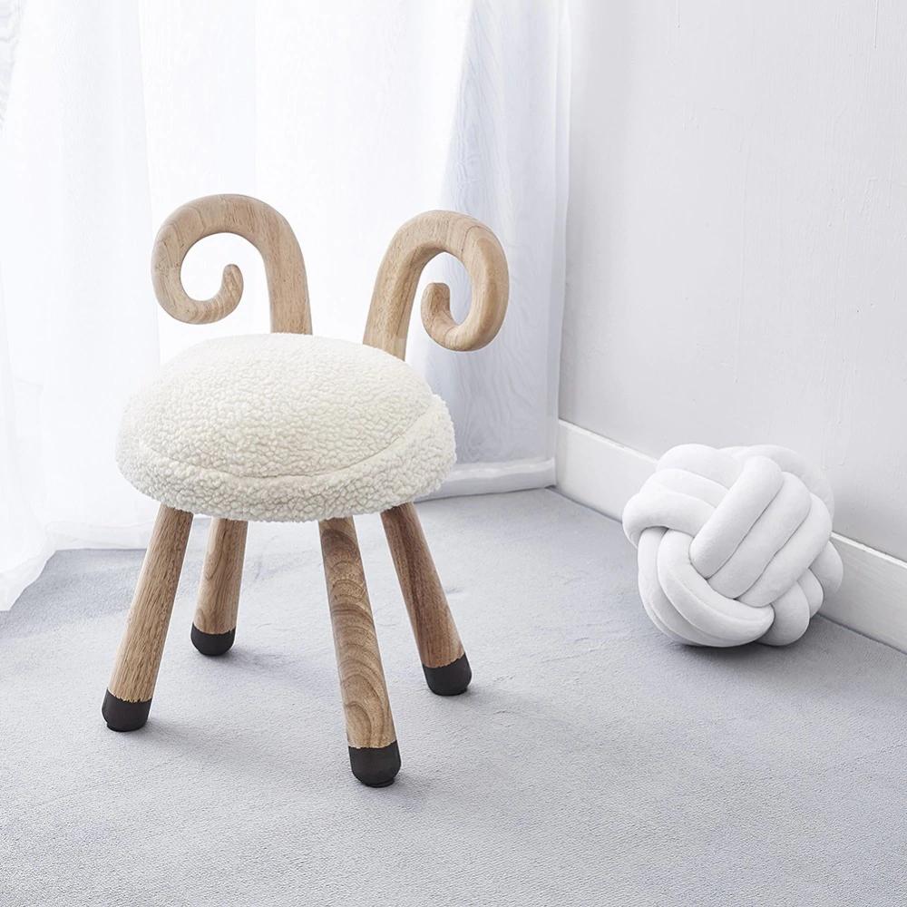 Modern Design Solid Wooden Animal Design Kids Baby Chair Cute