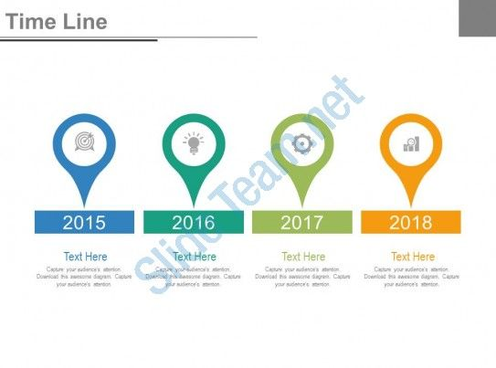 Year Based Timeline For Success Milestones Powerpoint Slides Slide01