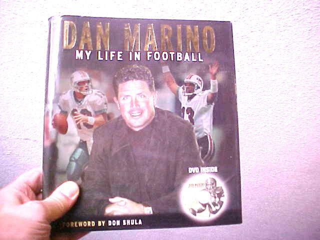 J) DAN MARINO,MY LIFE IN FOOTBALL,MIAMI DOLPHINS NFL PLUS DVD, great book