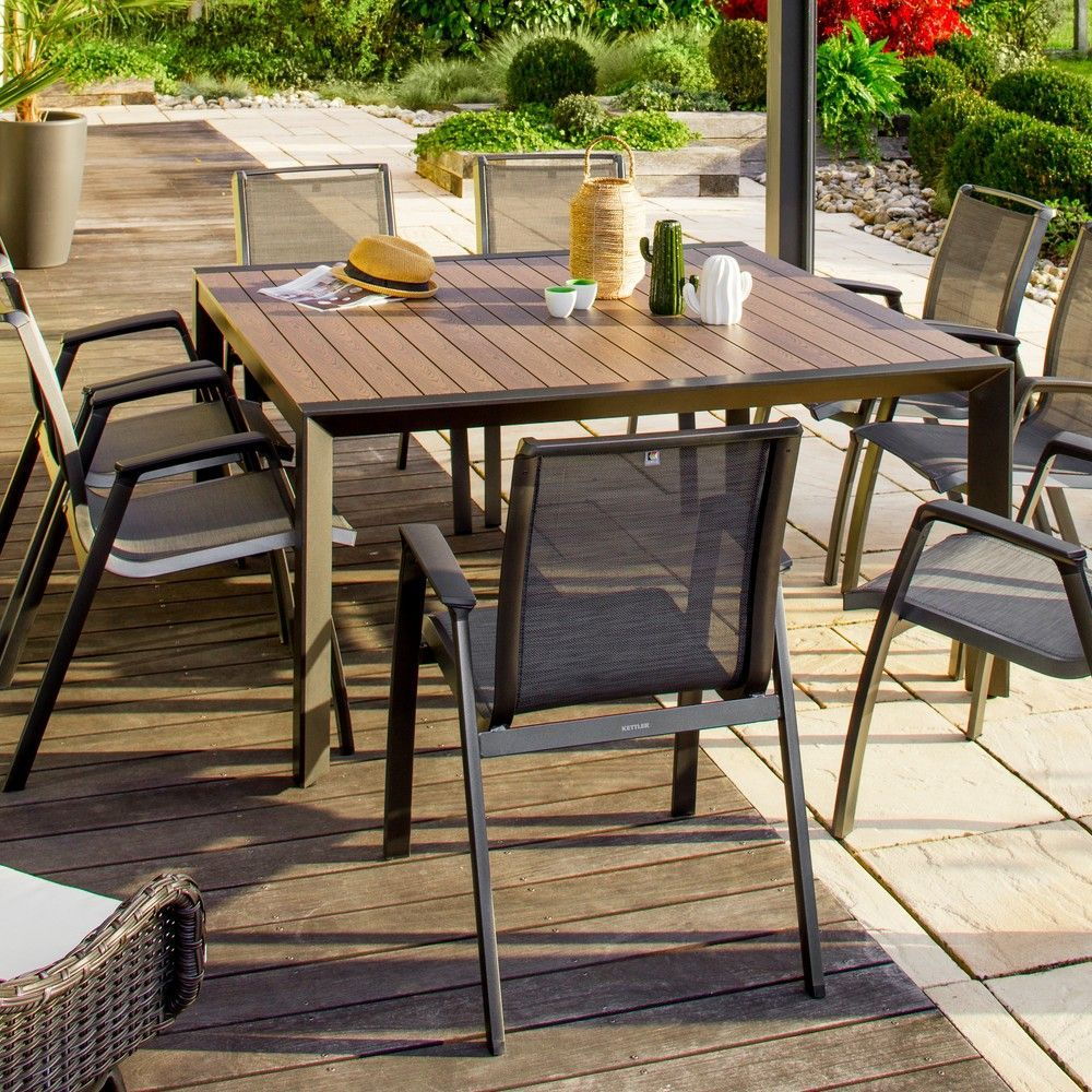 Table De Jardin Malaga Aluminium Tabledejardin Gammvert Iziva Jardin Garden Meublesdejardin Mobilie Outdoor Furniture Outdoor Decor Outdoor Tables