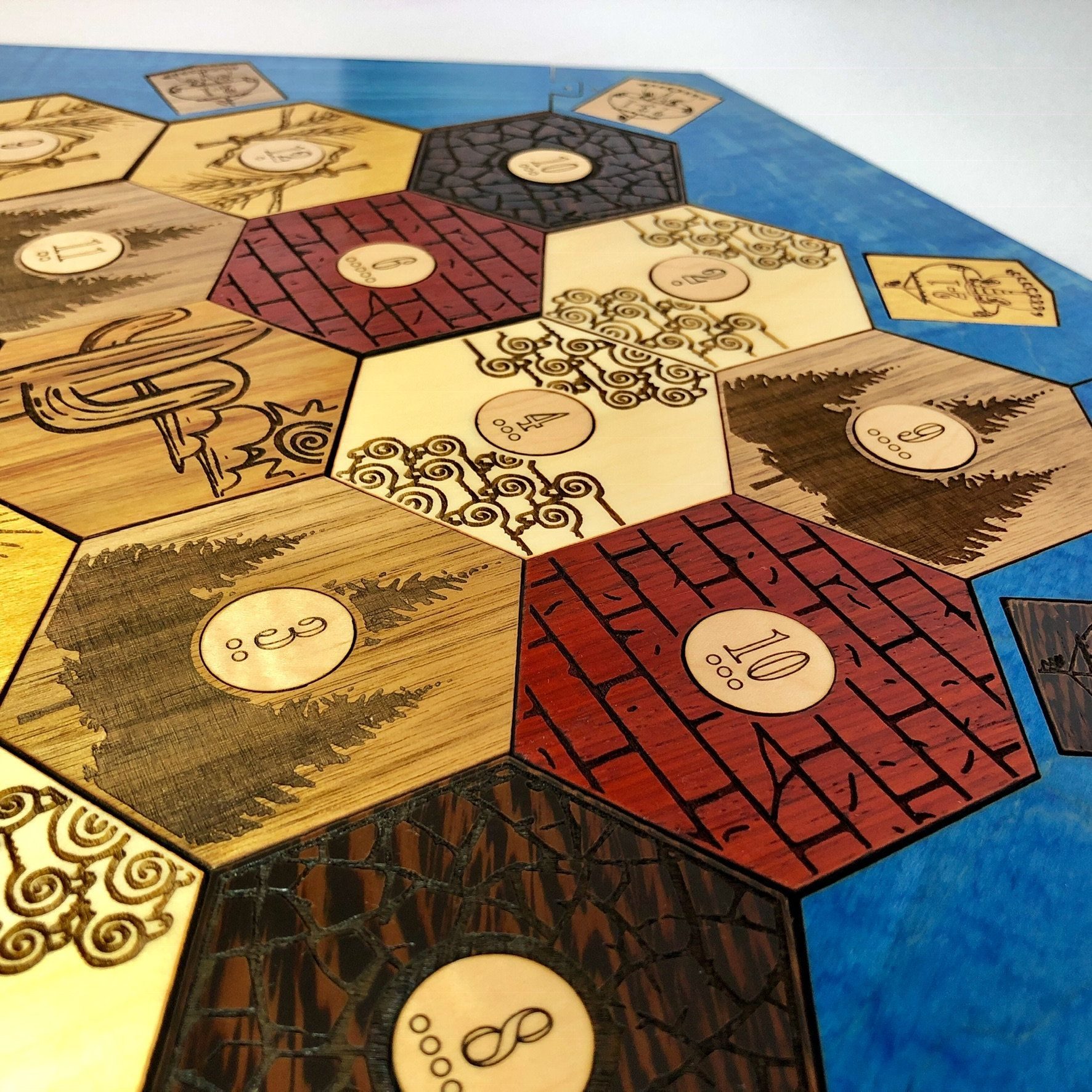 34 Player Heirloom Hardwood Catan Board Supplemental