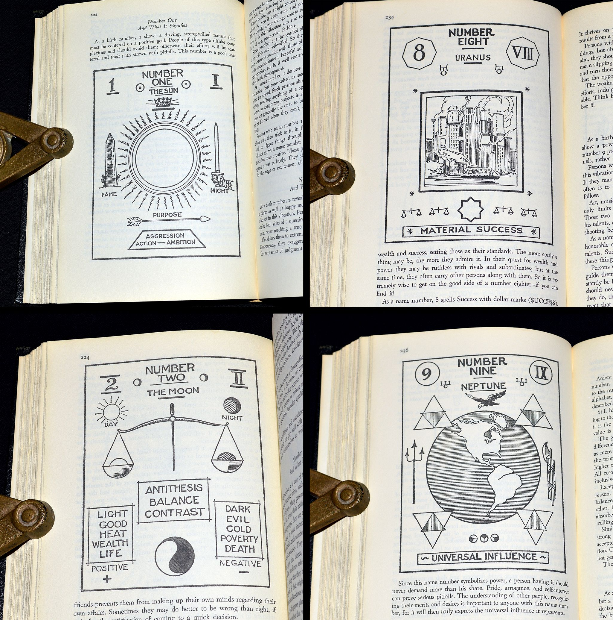 """Astrological / Zodiacal illustrations from """"The Complete Illustrated Book  Of The Psychic Sciences"""", a 1966, unstated 1st ed… 