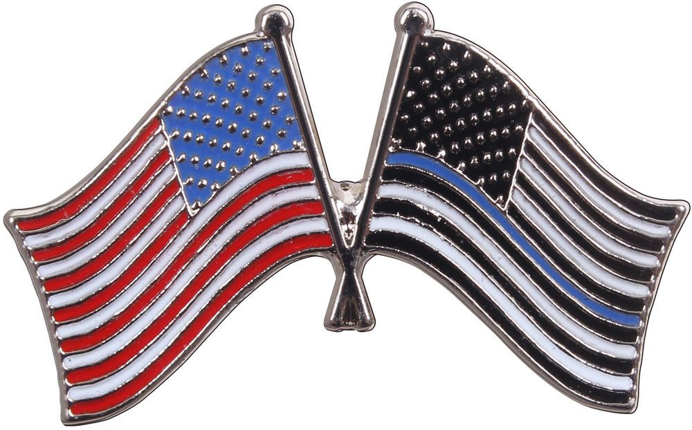 Thin Blue Line US Flag Pin Police Support Law Enforcement Cop Lapel Hat  Insignia  Rothco a57a1cc4381
