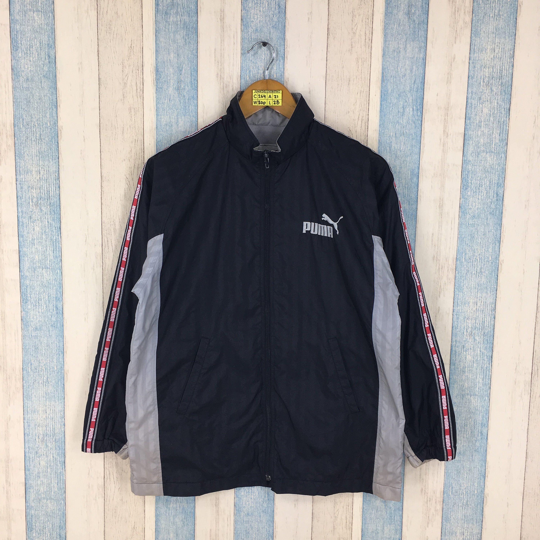 819cde3cddf59 Vintage PUMA WINDRUNNER Jacket Medium 90s Puma Streetwear Trainer ...