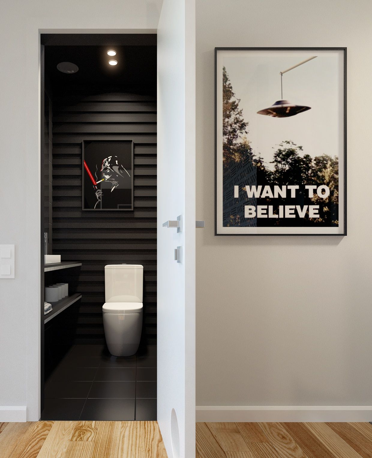 Cleverstarwarsprint Toilette WC Stylés Pinterest Square - Star wars bathroom decor for small bathroom ideas