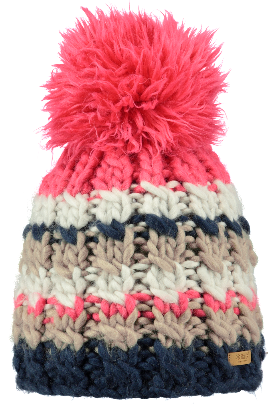75dbbfb686dc0 The Barts Feather beanie features super thick yarn and a mega pom. What  feels more like winter