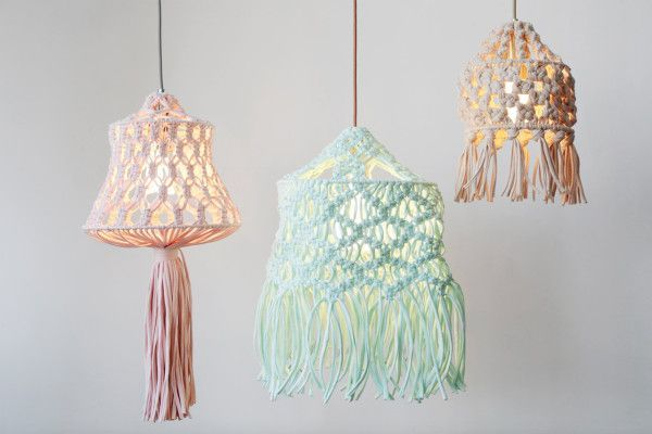 Plumen X Wool And The Gang Diy Macrame Lampshade Design Milk Macrame Diy Macrame Patterns Lampshade Kits