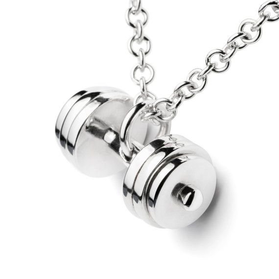 Gym Fitness Bodybuilding Live Fit ™ Weight Plate Motivation Jewellery Necklace Clothing & Accessories
