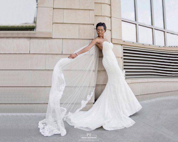 Cathedral Veil 105 Lace Wedding Veil Long Veil Wedding Veils
