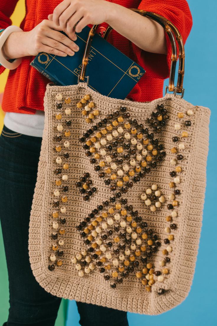 Beaded Crochet Tote Pattern Crochet Bag Patterns Pinterest