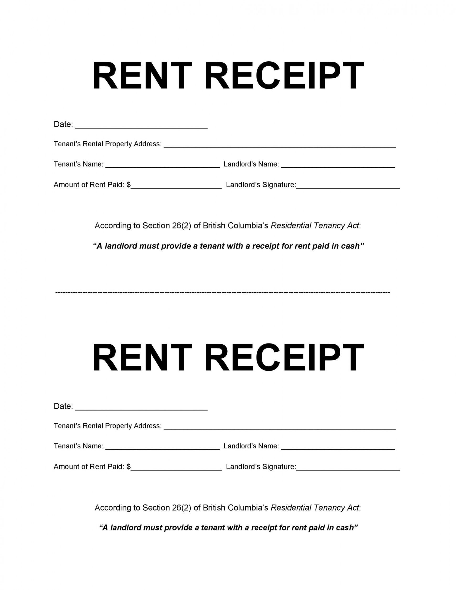 Get Our Image Of Online Rental Receipt Template Receipt Template How To Get Money Being A Landlord