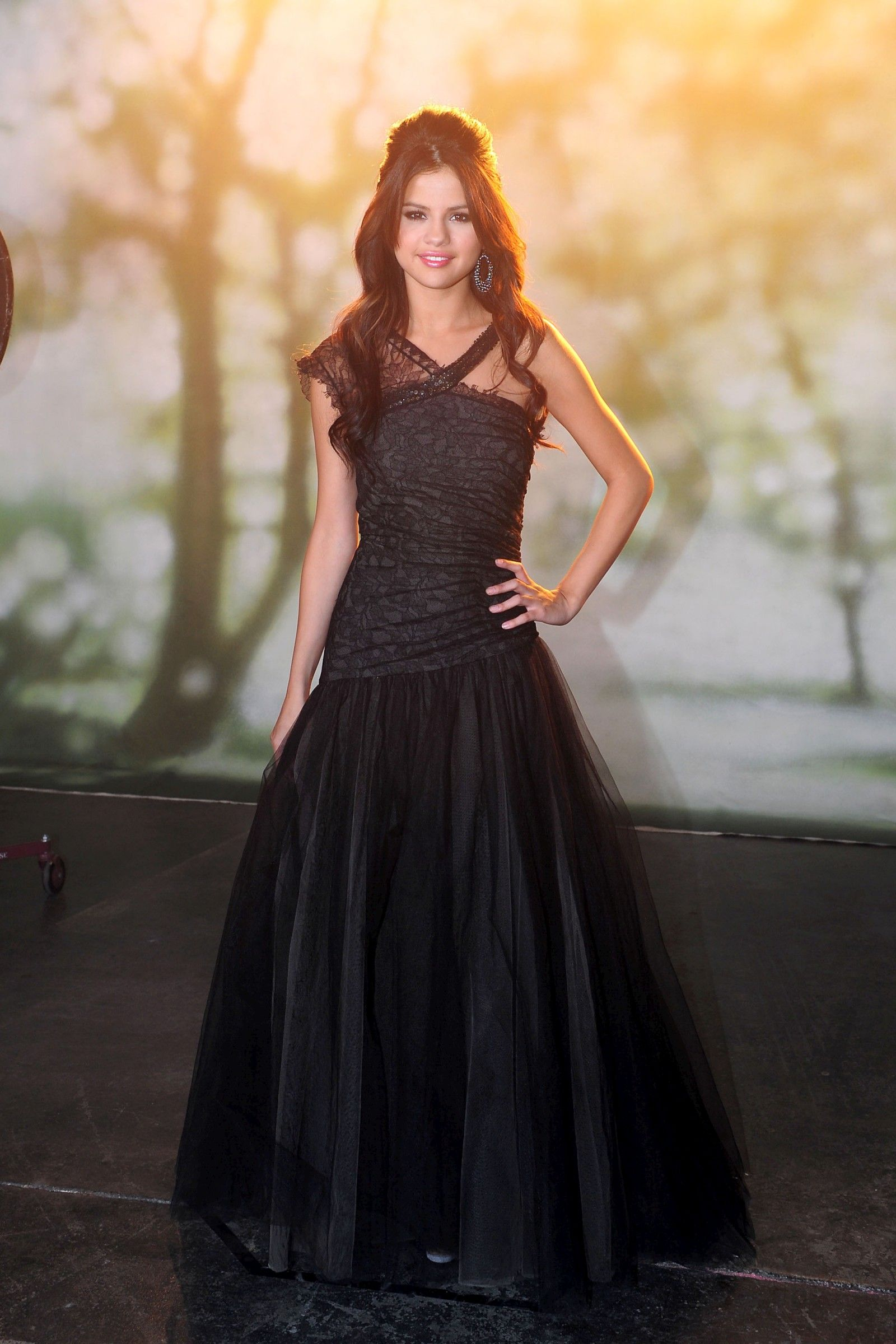 selena gomez long black dress celebrities amp public