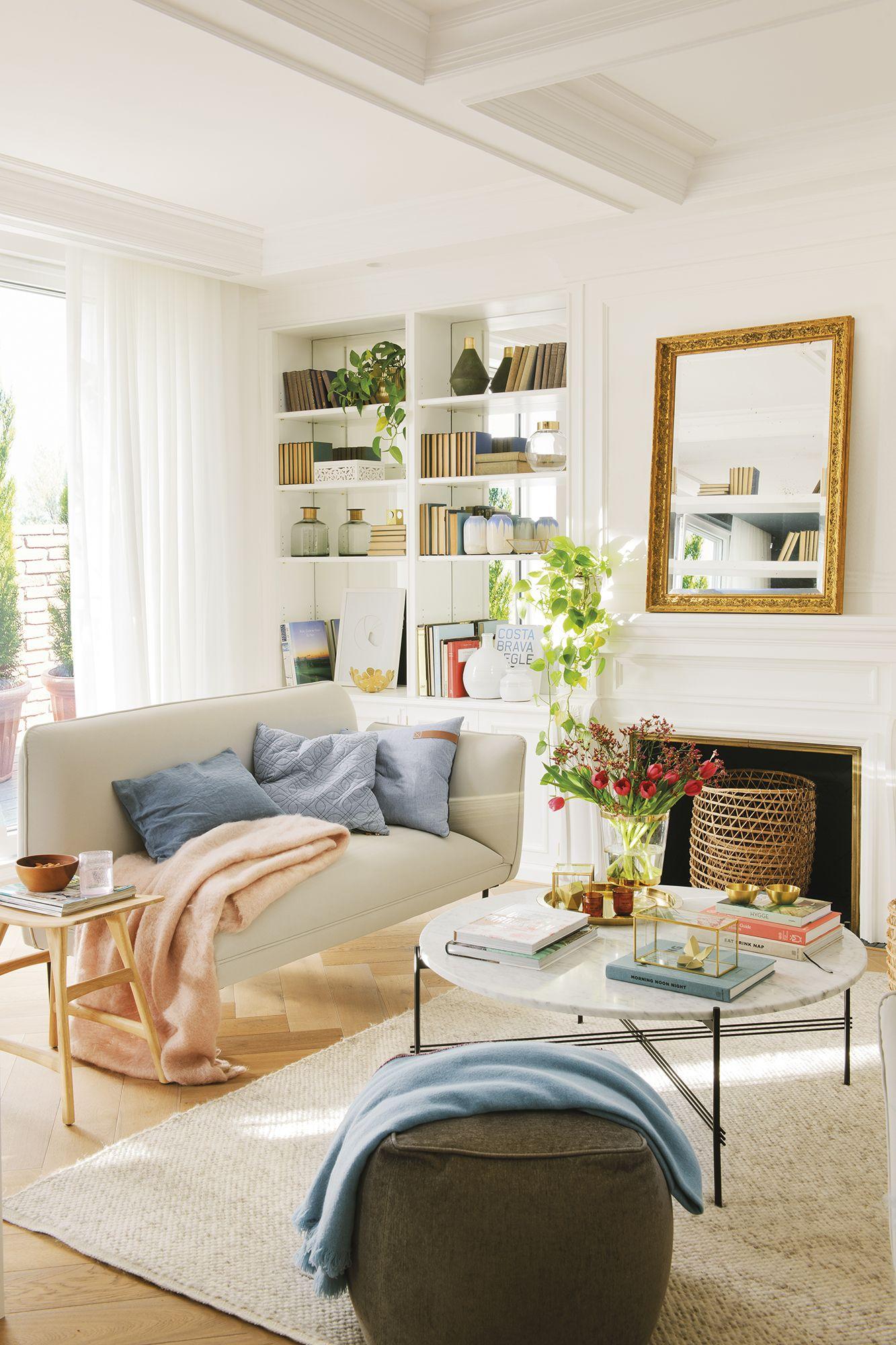 Ojo a los espejos en 2019 salones modernos y acogedores for Espejos horizontales para salon