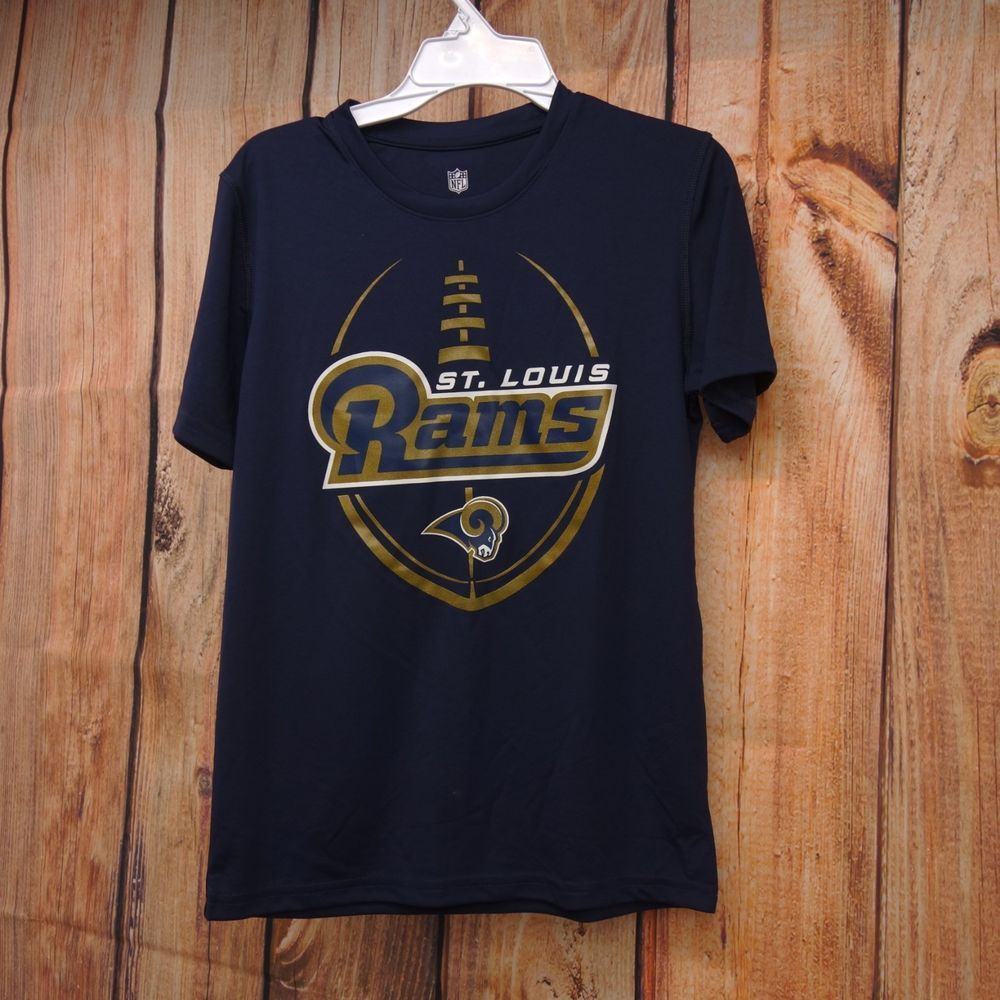 0f0a33bc New NFL Los Angeles Rams STL Youth Boys Dri Fit Cotton Team Logo ...