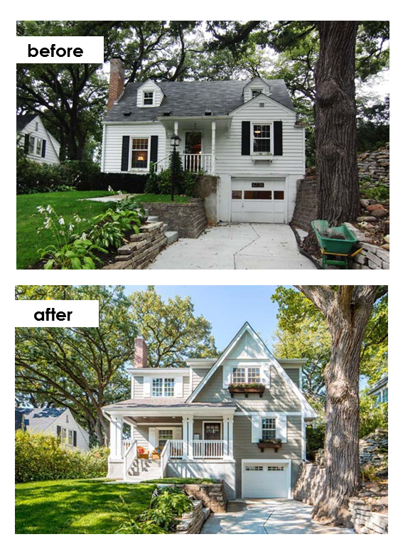 You won 39 t believe these ugly duckling makeovers for Cape cod second floor addition