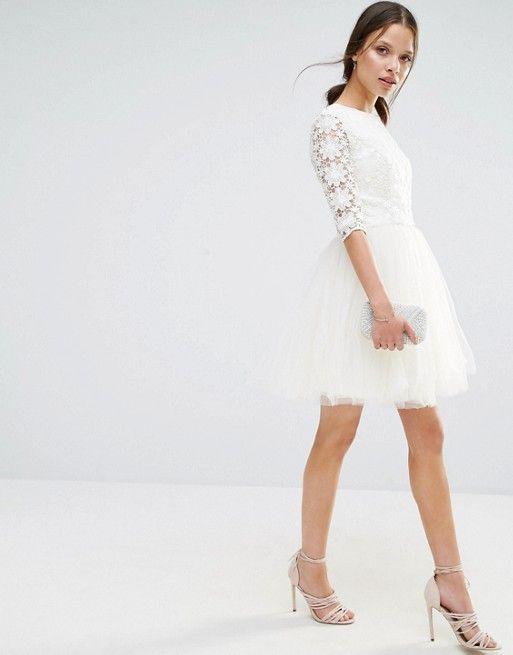 Robe Chichi London blanc petite | PACS | Pinterest | Kleider
