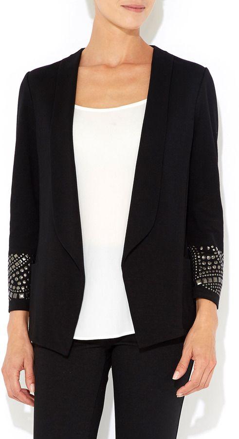 Wallis Black Morgan Hotfix Jacket on shopstyle.com