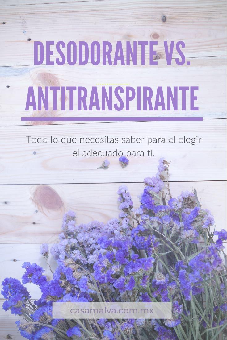 Desodorante Vs Antitranspirante Antitranspirante Desodorante Cremas Antiarrugas Casera
