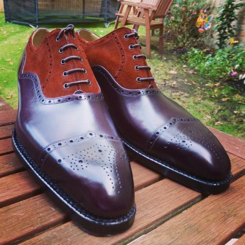 http://chicerman.com  ascotshoes:  Mixing the Oxblood calf with a mid brown suede on a pair of Vass shoes. I Ascot Shoes is a British based shop specialising in hand made Vass Shoes. Email Sammy for advice on Sizing Fitting & Made To Order Prices  - - - - - -  Ascotshoes@outlook.com  #sartorial #menswear #shoegazing #shoeporn #killerheels #mensfashionreview #distinguished #ascotshoes #classicshoes #englishshoes #mensfashion #horology #dandy #watchporn #bespoke #dapper #theshoesnob #aviation…