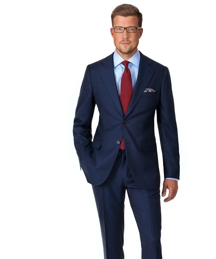 Vendetta Premium Navy Plaid Suit Suits Men Business Blue Suit Men Mens Suits Uk
