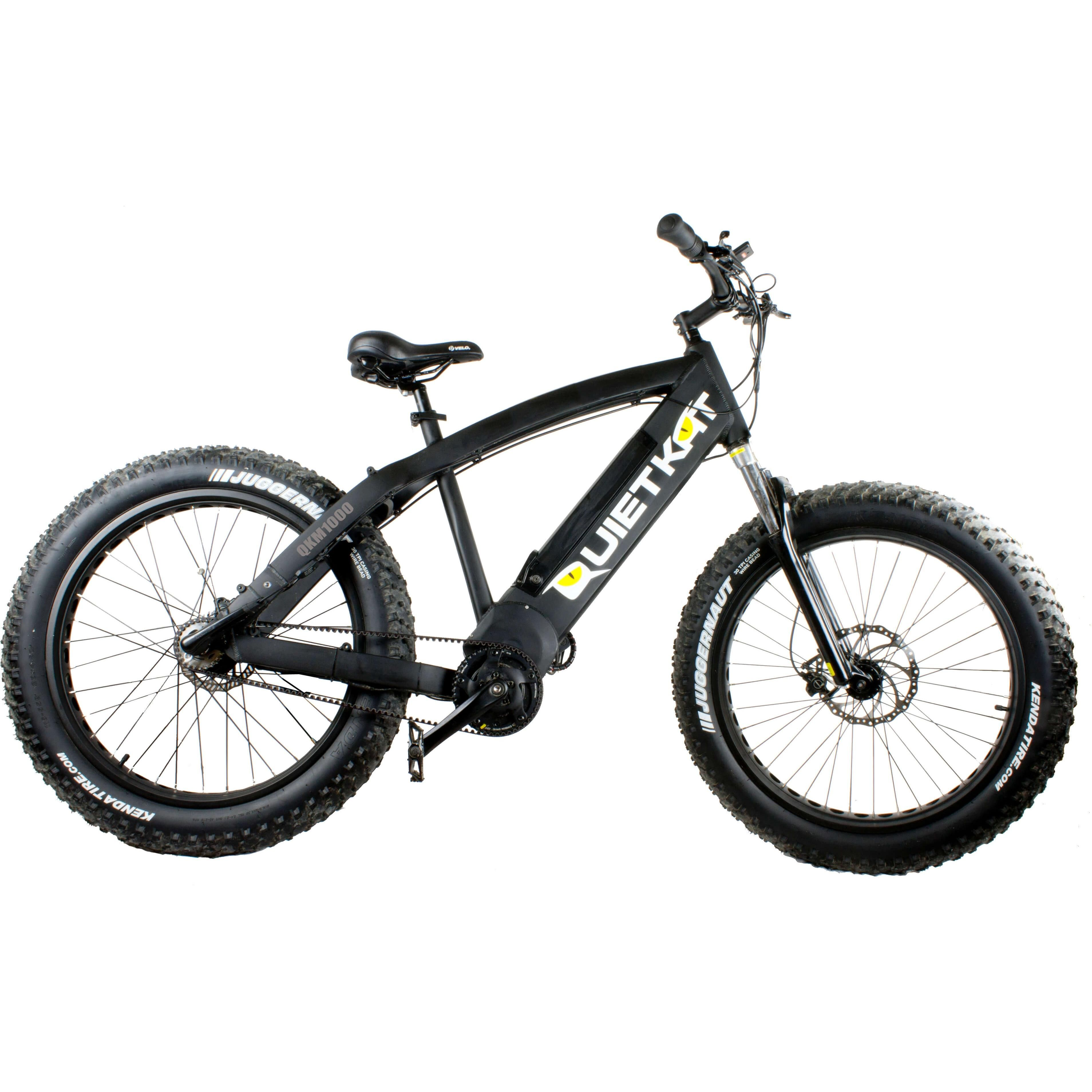 Quietkat Fatkat 48v 1000w Internal Motor Carbon Belt Drive Electric Mountain Bike Black City Bike Bike Electric Mountain Bike