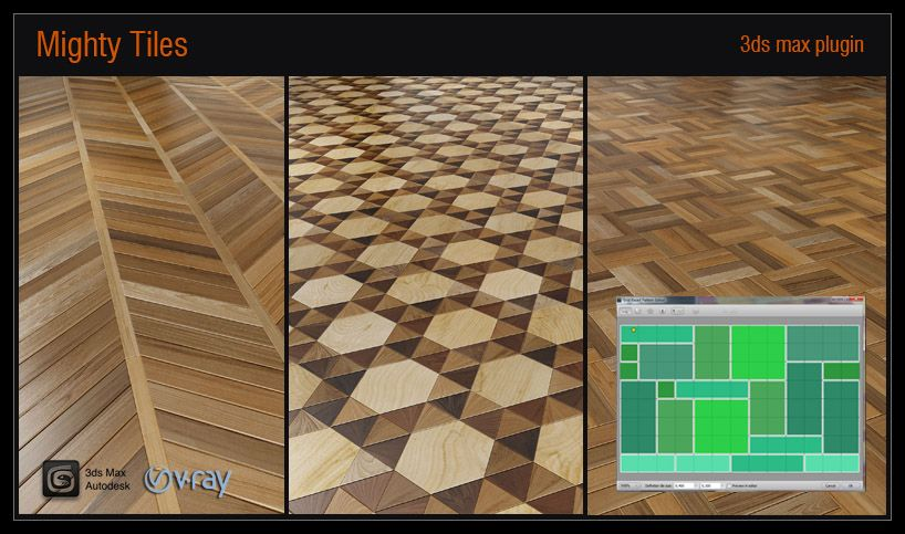 Mighty Tiles Is Plugin Supported For 3ds And V Ray Generates